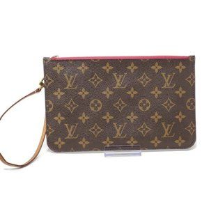 Auth Louis Vuitton Pouch/Wristlet/ Clutch Bag